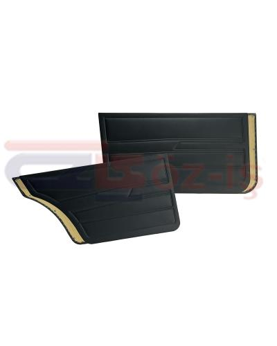 VW GOLF 1  1976-1983 DOOR PANEL SET BLACK SEDAN