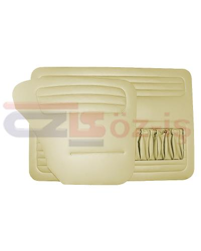 VW OLD BEETLE 1200 DOOR PANEL SET CREAM 1958 - 1964