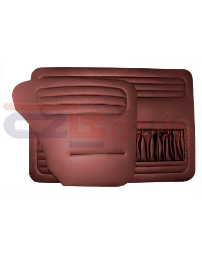 VW OLD BEETLE 1200 DOOR PANEL SET BURGUNDY   1958 - 1964
