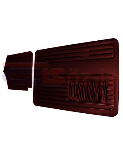 VW OLD BEETLE 1500 CABRIO DOOR PANEL SET BURGUNDY 1967 - 1970