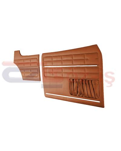 VW KARMANN GHIA DOOR PANEL SET TOBACCO