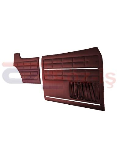 VW KARMANN GHIA DOOR PANEL SET BURGUNDY