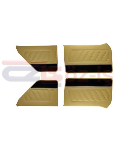 RENAULT 12 INTERIOR DOOR PANEL SET PVC LEATHER, CARPET, NICKEL BEIGE