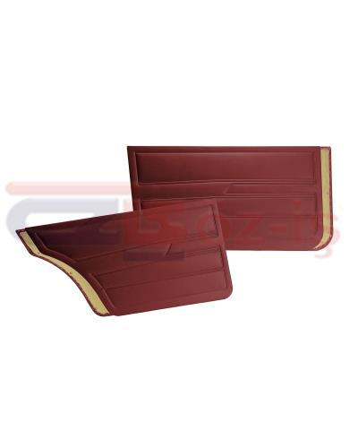 VW GOLF 1  1976-1983 DOOR PANEL SET BURGUNDY SEDAN