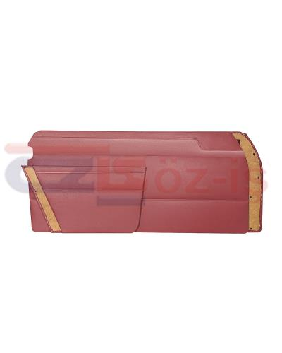 MERCEDES W114 COUPE DOOR PANEL SET BURGUNDY