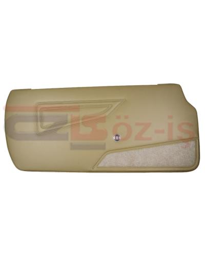 FIAT 124 SPIDER DOOR PANEL SET WITH CARPET BEIGE TYPE 1 1979 - 1982