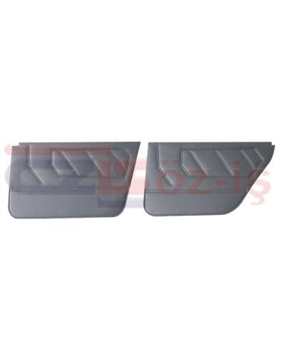 RENAUT 9 - 11 INTERIOR DOOR PANEL SET PVC LEATHER 4 PCS GREY