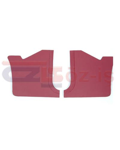 FORD TAUNUS 1978 - 1993 INTERIOR PEDAL SIDE PANELS 2 PCS BURGUNDY
