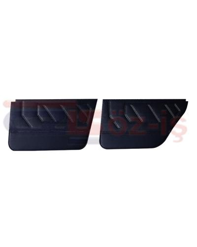 RENAUT 9 - 11 INTERIOR DOOR PANEL SET PVC LEATHER 4 PCS BLACK