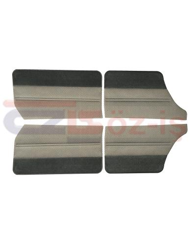FORD TAUNUS 1978 - 1993 INTERIOR DOOR PANEL SET 4 PCS WITH CARPET GREY