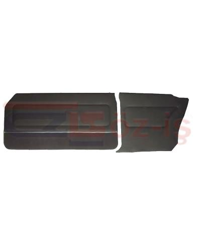 FORD 69-72 17M / 20M COUPE DOOR PANEL SET CARPET & NICKEL BLACK
