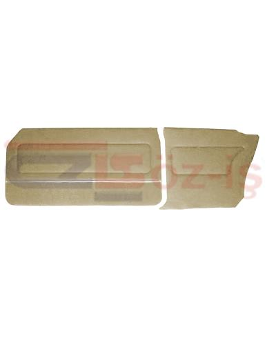 FORD 69-72 17M / 20M COUPE DOOR PANEL SET CARPET & NICKEL BEIGE