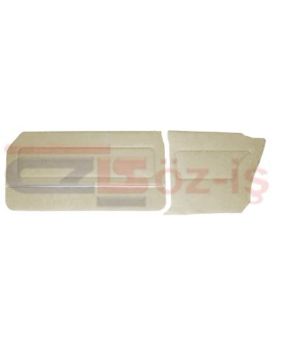 FORD 69-72 17M / 20M COUPE DOOR PANEL SET CARPET & NICKEL CREAM