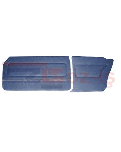FORD 69-72 17M / 20M COUPE DOOR PANEL SET CARPET & NICKEL DARKBLUE
