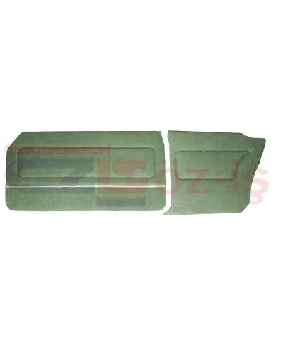 FORD 69-72 17M / 20M COUPE DOOR PANEL SET CARPET & NICKEL GREEN