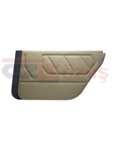 RENAULT 9 - 11 INTERIOR DOOR PANEL SET PVC LEATHER BEIGE 4 PCS