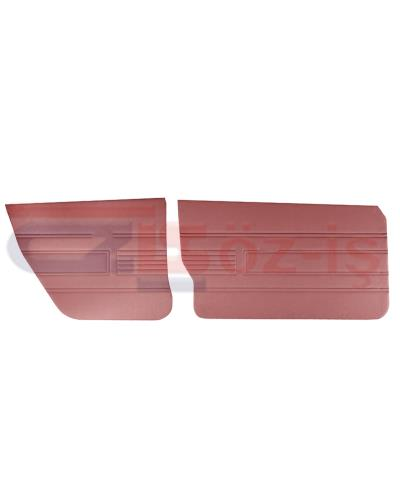 AUDI 80 -1980 DOOR PANEL SET 4 PCS BURGUNDY