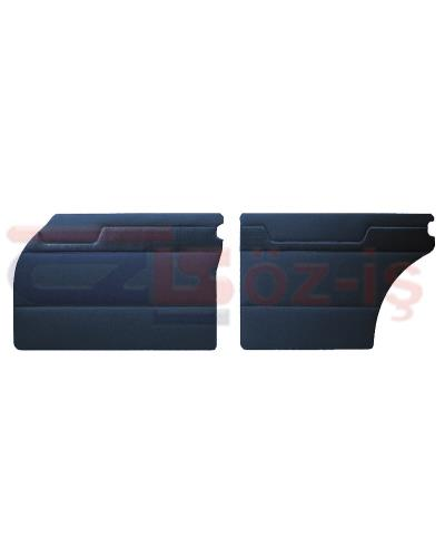 MERCEDES W110 DOOR PANEL SET DARK BLUE