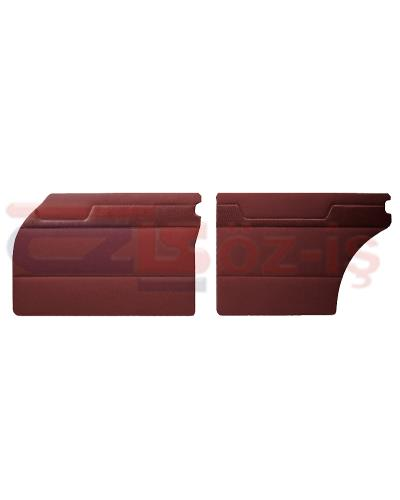 MERCEDES W110 DOOR PANEL SET BURGUNDY