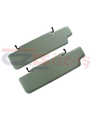 LAND ROVER DEFENDER INTERIOR SUN VISOR SET  GREY 2 PCS