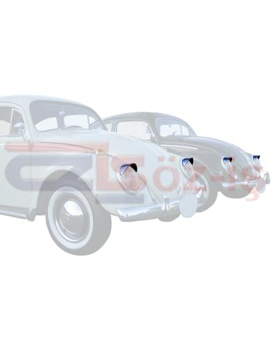 OLD BEETLE EYEBROW CHROME 2 PCS