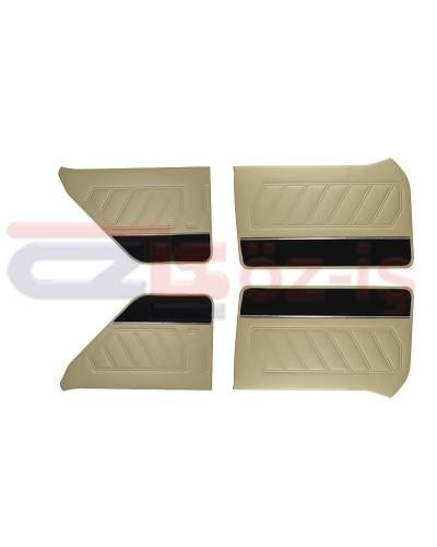 RENAULT 12 DOOR PANEL SET 4 PCS BEIGE