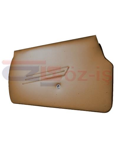 FIAT SPIDER DOOR PANEL SET TOBACCO  WITH IRON PLATE TYPE 5 1966 - 1978