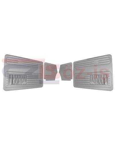 VW OLD BEETLE 1500 CABRIO L DOOR PANEL SET GREY TWO SIDES POCKET
