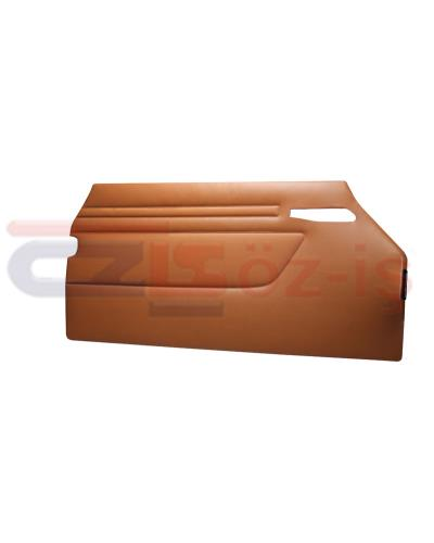 MERCEDES R107 DOOR PANEL SET TOBACCO 2 PCS
