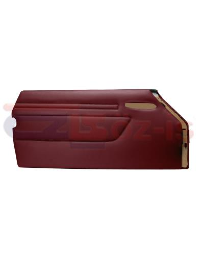 MERCEDES R107 DOOR PANEL SET BURGUNDY 2 PCS