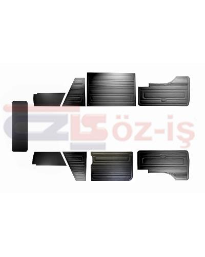 VW T3 T25 BUS 1985-1992 DOOR PANELS 9 PCS BLACK O.P. LATE STYLE