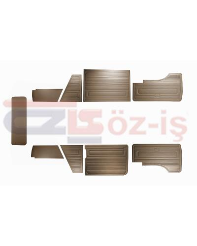 VW T3 T25 BUS 1985-1992 DOOR PANELS 9 PCS BROWN LATE STYLE