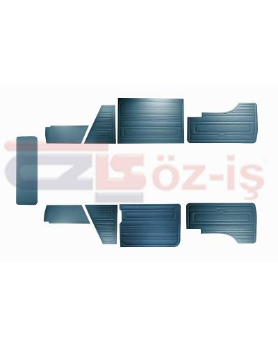 VW T3 T25 BUS 1985-1992 DOOR PANELS 9 PCS DARK BLUE LATE STYLE