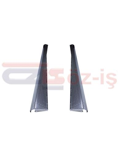 OLD BEETLE RUNNING BOARDS SET 2 PCS LEFT & RIGHT NICKEL STAINLESS HONEYCOMB DESIGN