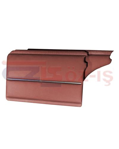 MERCEDES W108 DOOR PANELS BURGUNDY  WITH NICKEL 4 PCS (2 FRONT - 2 REAR)