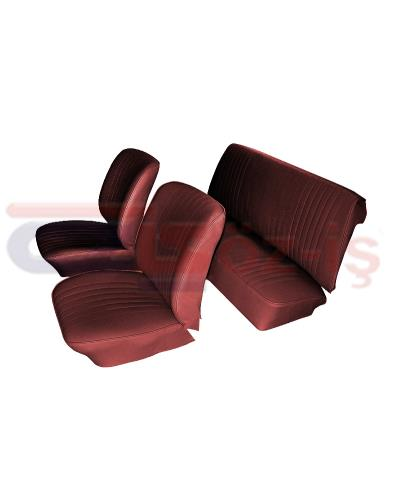 VW OLD BEETLE SEAT COVER BURGUNDY 1300 - 1303 - 1 SET 6 PCS