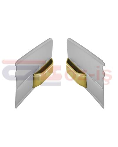 MERCEDES W108 DOOR POCKET WITH NICKEL BEIGE