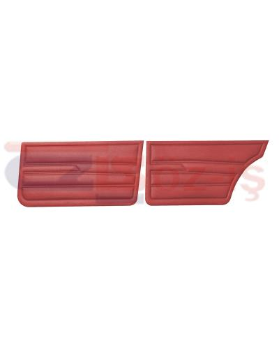 VW GOLF 1 JETTA 79-83 INTERIOR DOOR PANELS BURGUNDY
