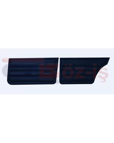 VW GOLF 1 JETTA 79-83 INTERIOR DOOR PANELS DARK BLUE