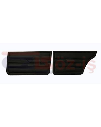 VW GOLF 1 JETTA 79-83 INTERIOR DOOR PANELS BLACK