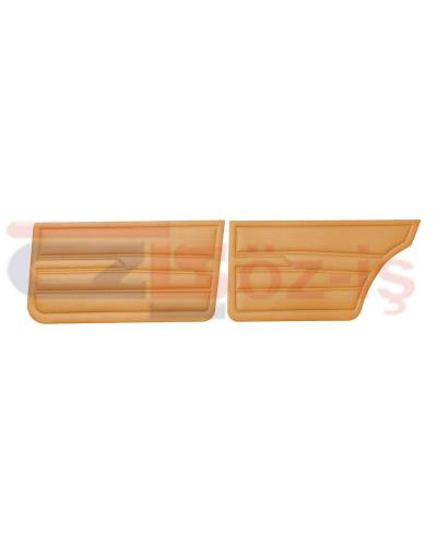 VW GOLF 1 JETTA 79-83 INTERIOR DOOR PANELS TOBACCO