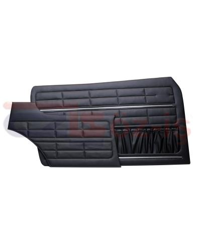 VW KARMANN GHIA DOOR PANEL SET BLACK