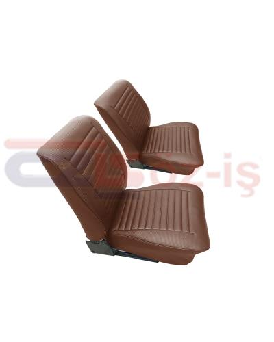 VW T2 FRONT SEAT COVER BROWN FOR 2 SEAT