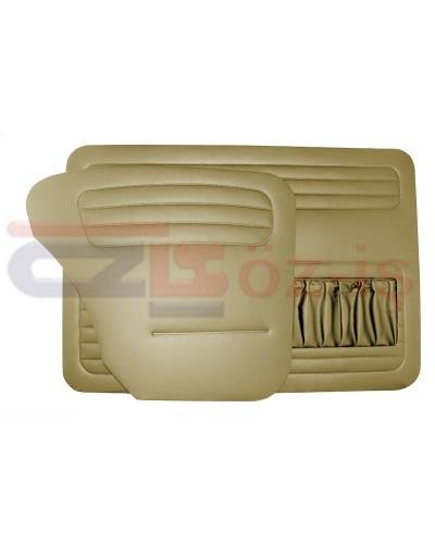 VW OLD BEETLE 1200 DOOR PANEL SET BEIGE 1958 - 1964