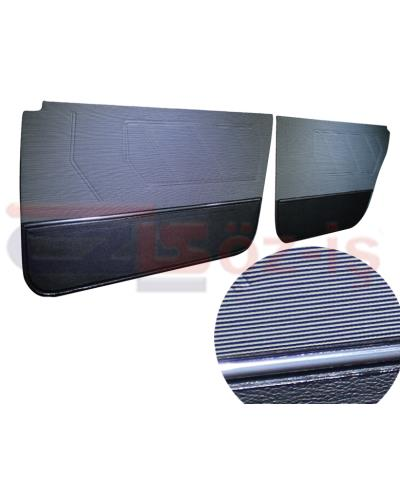 RENAULT 9 BROADWAY DOOR PANEL SET 4 PCS FABRIC COVER GREY BLACK